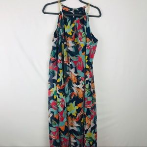 Mlle Gabrielle Colorful Floral Maxi Dress